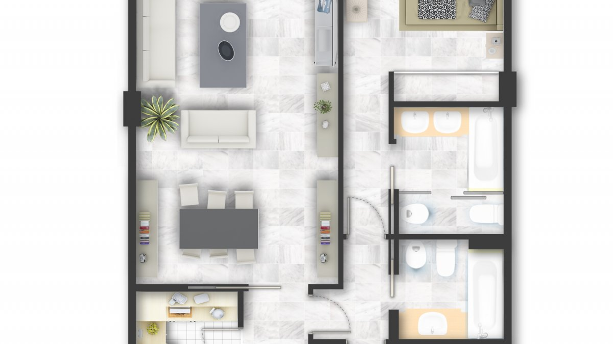 Marina Mariola Marbella 2 dormitorios Este vista Jardin